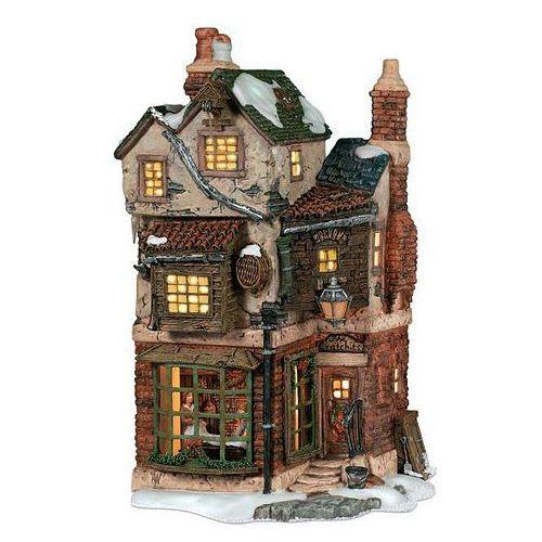 クリスマス 置物 オーナメント アメリカ DP56社 陶器製のミニチュアハウス A CHRISTMAS CAROL Cratcht's corner 高さ25cm 使用電池のオマケ付き 送料無料