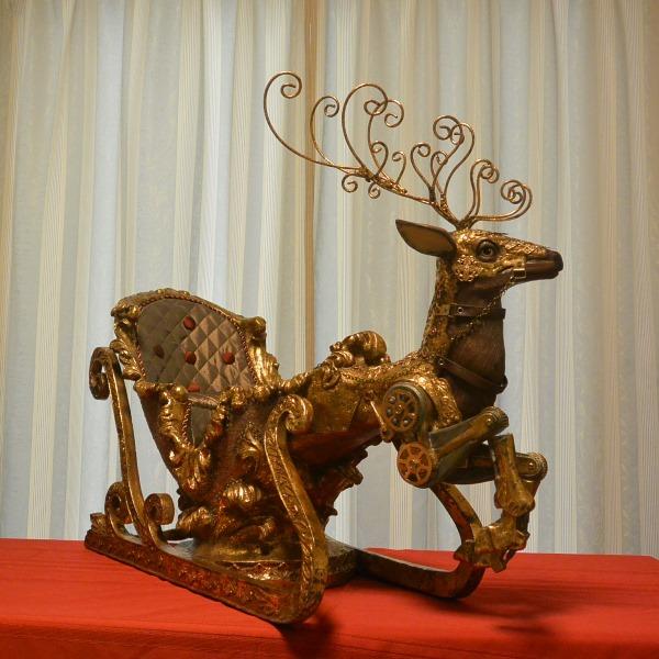 アメリカ キャサリン コレクション クリスマス オーナメント 置物 ジャーニースレイ 高さ67cm 送料無料