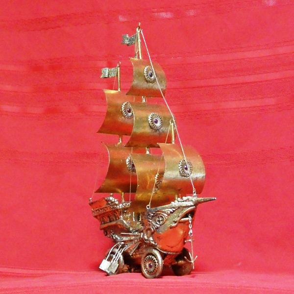 アメリカ キャサリン コレクション クリスマス オーナメント 置物 高さ31cm ガレオンホイール オーナメント ゴールド 送料無料