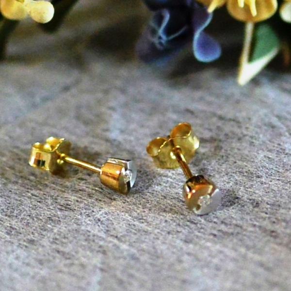 ドイツ BREUNING社ジュエリー K18 ダイヤモンド 0,03ct ピアス #08819 送料無料