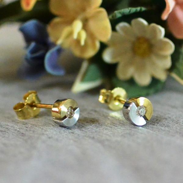 ドイツ BREUNING社ジュエリー K18 ダイヤモンド 0,08ct ピアス #08818 送料無料