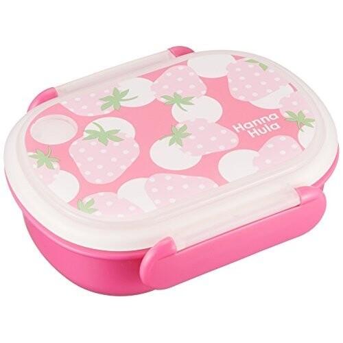 キッズ ランチボックス いちご Hanna Hula ハンナフラ セール価格 弁当箱 子供 食洗機OK 日本製 メール便不可 電子レンジOK 100%品質保証 -