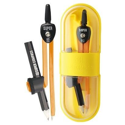 教科書に載っているコンパス スーパーコンパス いろは 卓抜 鉛筆用 メール便対象 オレンジ - 通販