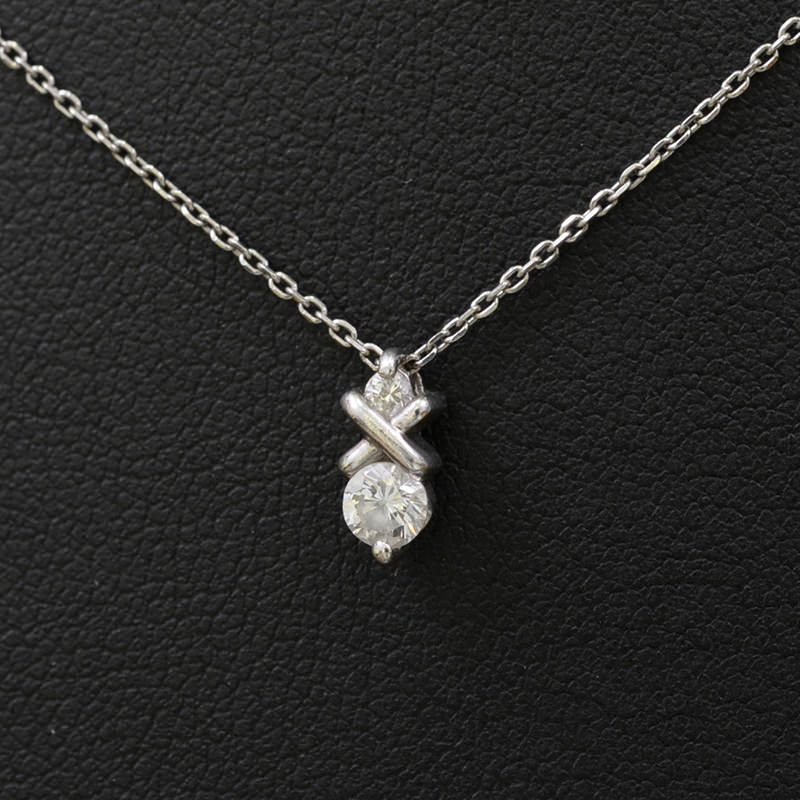 ダイヤ プラチナネックレス Pt900 Pt850  D0.25ct 41cm【新着】【オススメ】【中古】