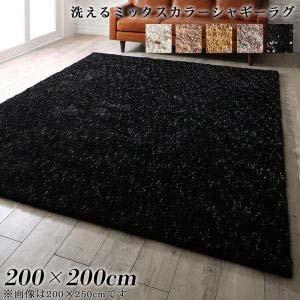 【予約中!】 ふわふわボリュームの洗えるミックスカラーシャギーラグ Morful モルフル 200×200cm カーペット マット 絨毯, カシマチョウ 1a833c9d