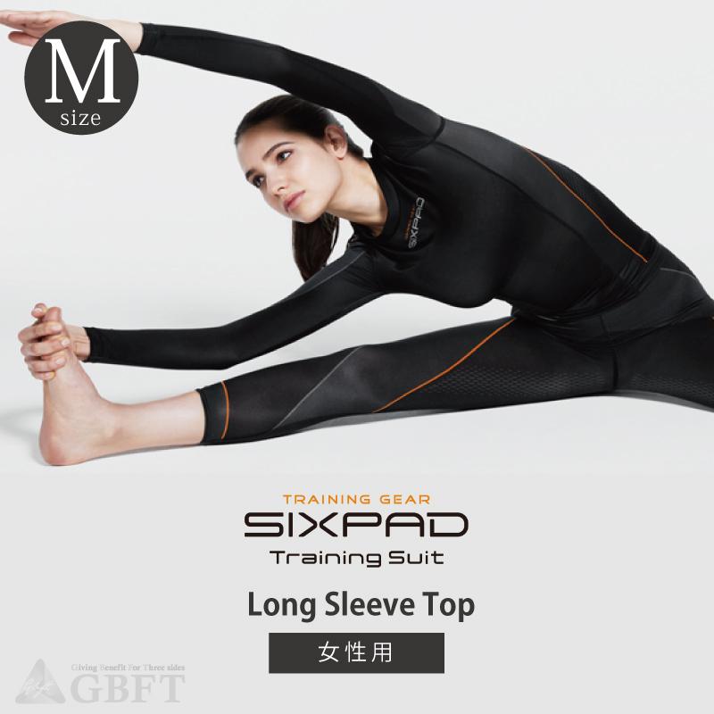 【6月10日24時間限定!5と0のつく日のエントリー&カード決済でポイント7倍】【キャッシュレス5%還元店】MTG SIXPAD Training Suit Long Sleeve Top シックスパッド トレーニングスーツ ロングスリーブトップ 女性用 Mサイズ