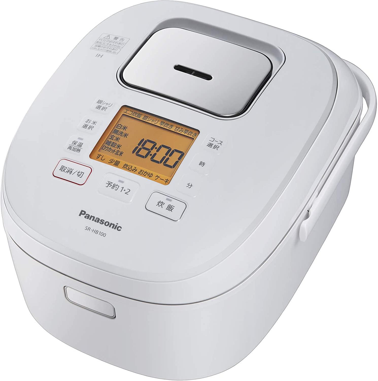 9 10はエントリー カード決済でポイント7倍 10限定最大1000円OFFクーポン発行 パナソニック Panasonic ホワイト SR-HB100-W 炊飯器 SR-HB100 高い素材 店内全品対象