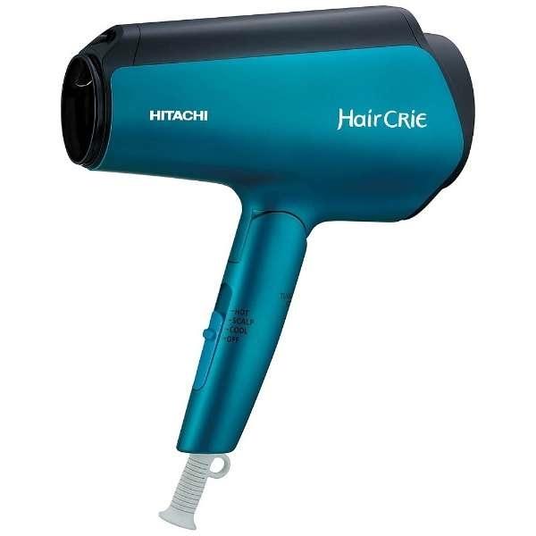 日立 HITACHI ナノイオンヘアードライヤー HairCRiE Plus+ マットブルー HD-NS810(A)