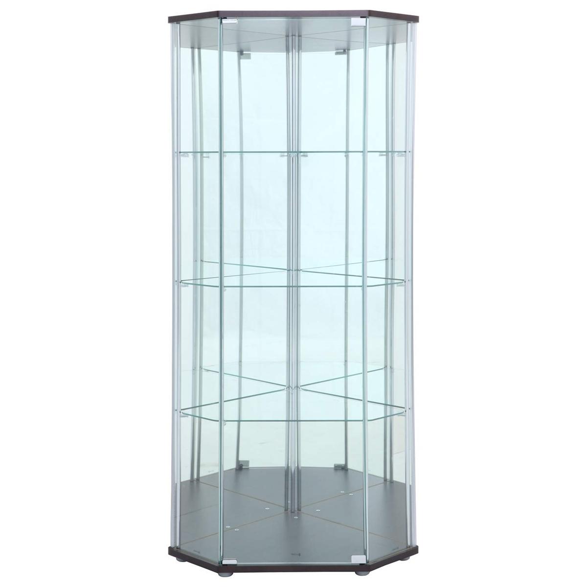 不二貿易 ガラスケース ミラー 幅72cm コレクションケース コーナータイプ 98846