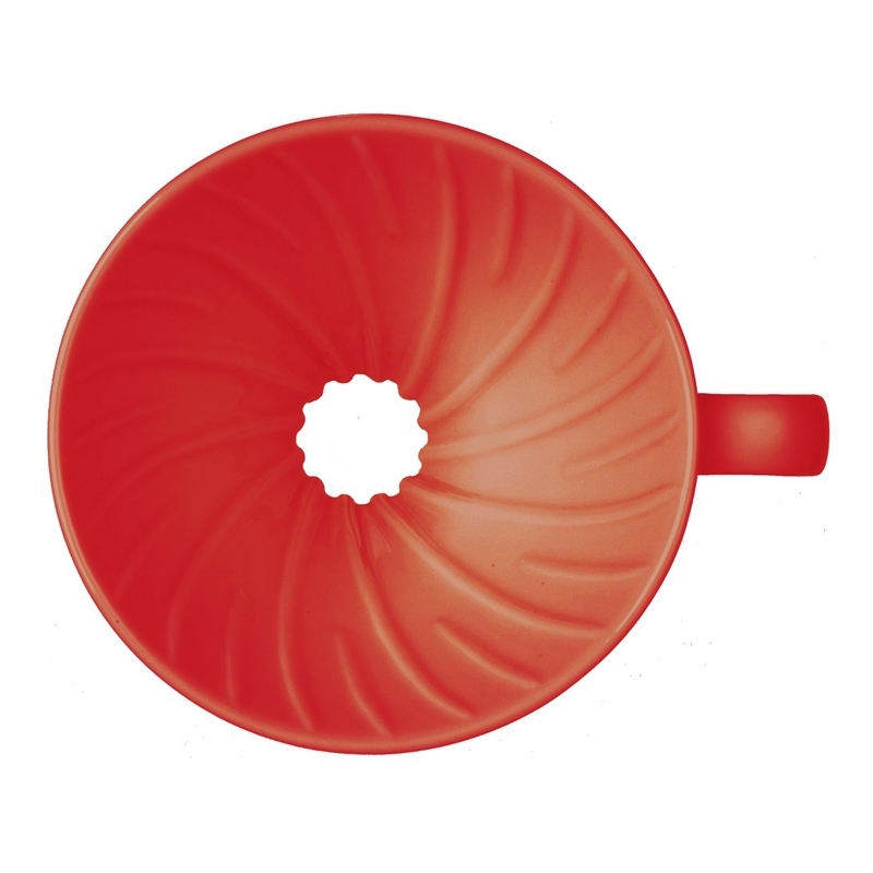 Red Plastic-Red Size 2 Hario V60 Plastic Coffee Dripper