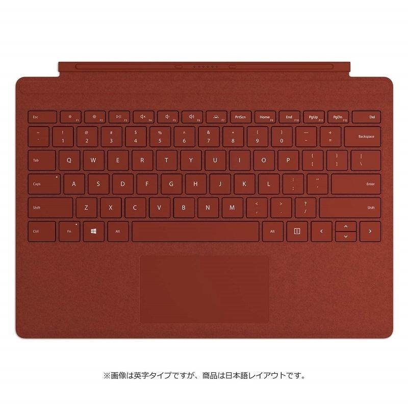【8/15はエントリー&カード決済でポイント7倍】マイクロソフト Microsoft Surface Pro Signature タイプカバー ポピーレッド FFP-00119
