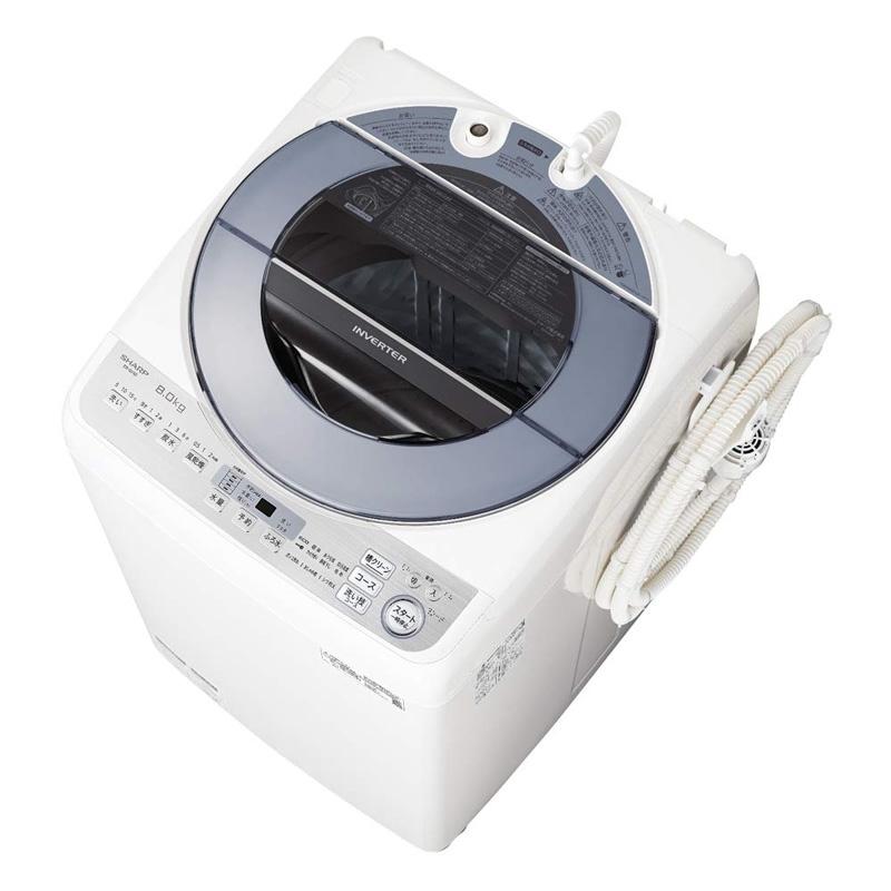 【6月10日24時間限定!5と0のつく日のエントリー&カード決済でポイント7倍】【キャッシュレス5%還元店】シャープ SHARP 洗濯機 穴なし槽 インバーター搭載 8kg シルバー系 ES-GV8D-S