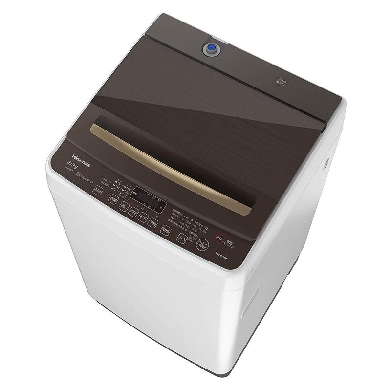 【6月10日24時間限定!5と0のつく日のエントリー&カード決済でポイント7倍】【キャッシュレス5%還元店】ハイセンス Hisense 最短10分で洗濯できる 全自動洗濯機 8.0kg HW-DG80A