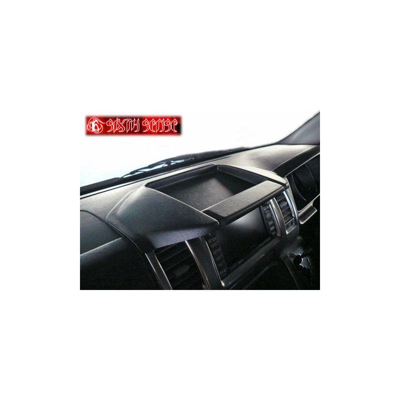 ●●●現品限り【シックスセンス】HIACE ハイエース200系1~3型対応 ナローボディー専用 トレイ付きナビバイザー