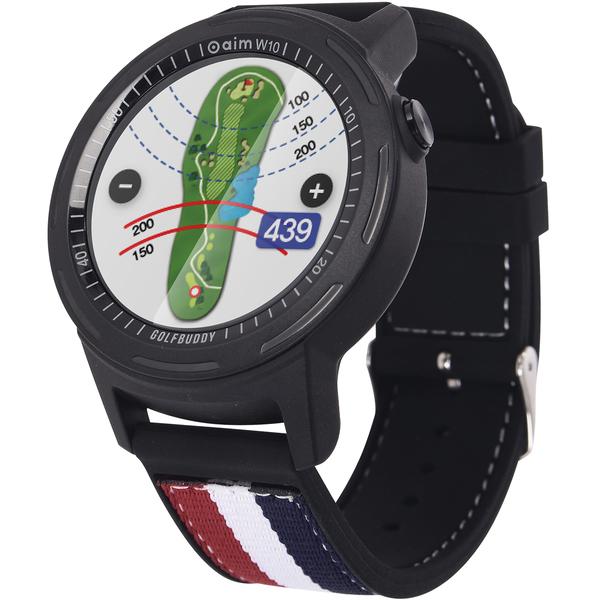 【10/13(日)0時から48時間限定!最大1400円OFFクーポン実施♪】ゴルフバディー GolfBuddy aim W10 スマートゴルフGPSウォッチ
