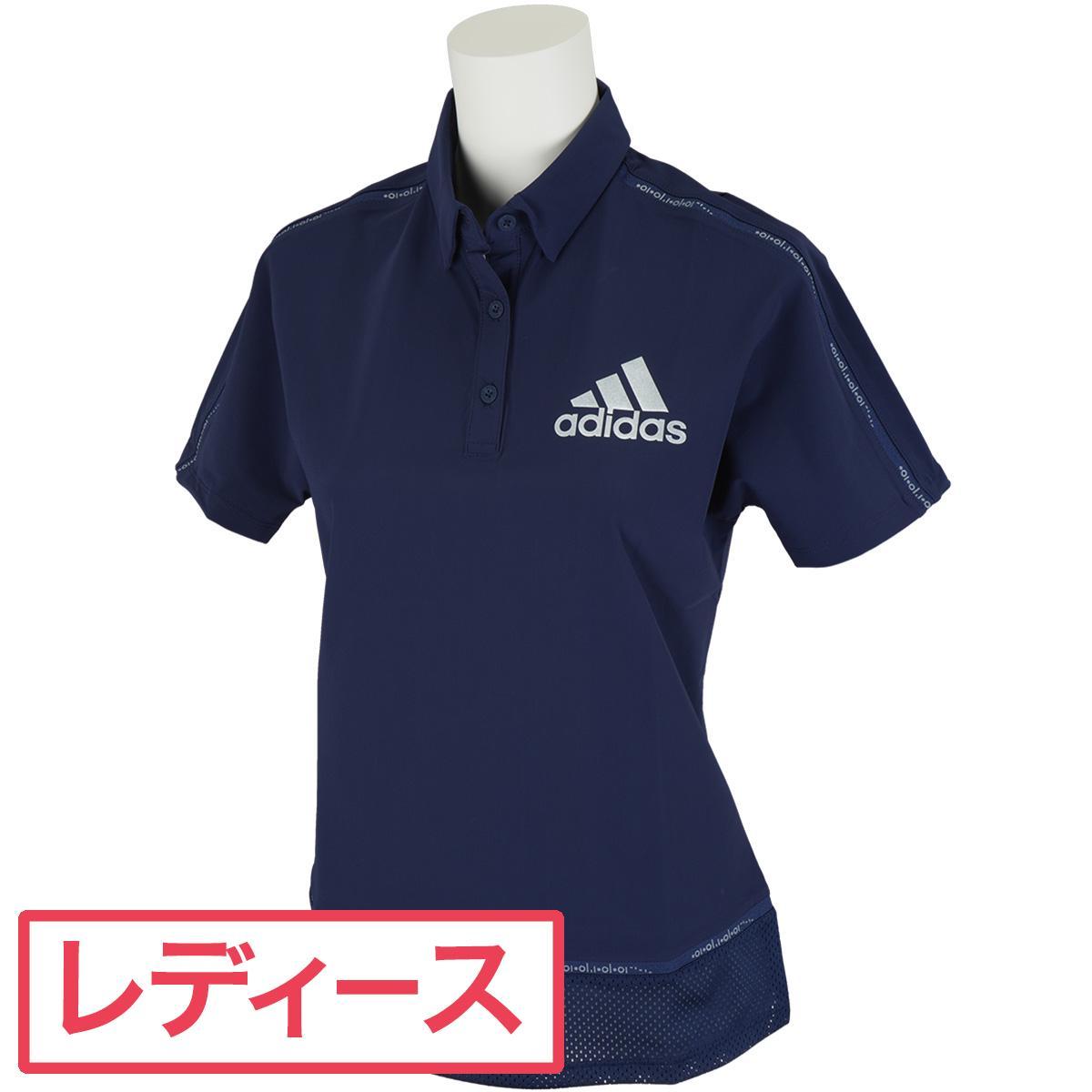【13時までの注文であす楽対応】 アディダス Adidas ラインド半袖ポロシャツ レディス