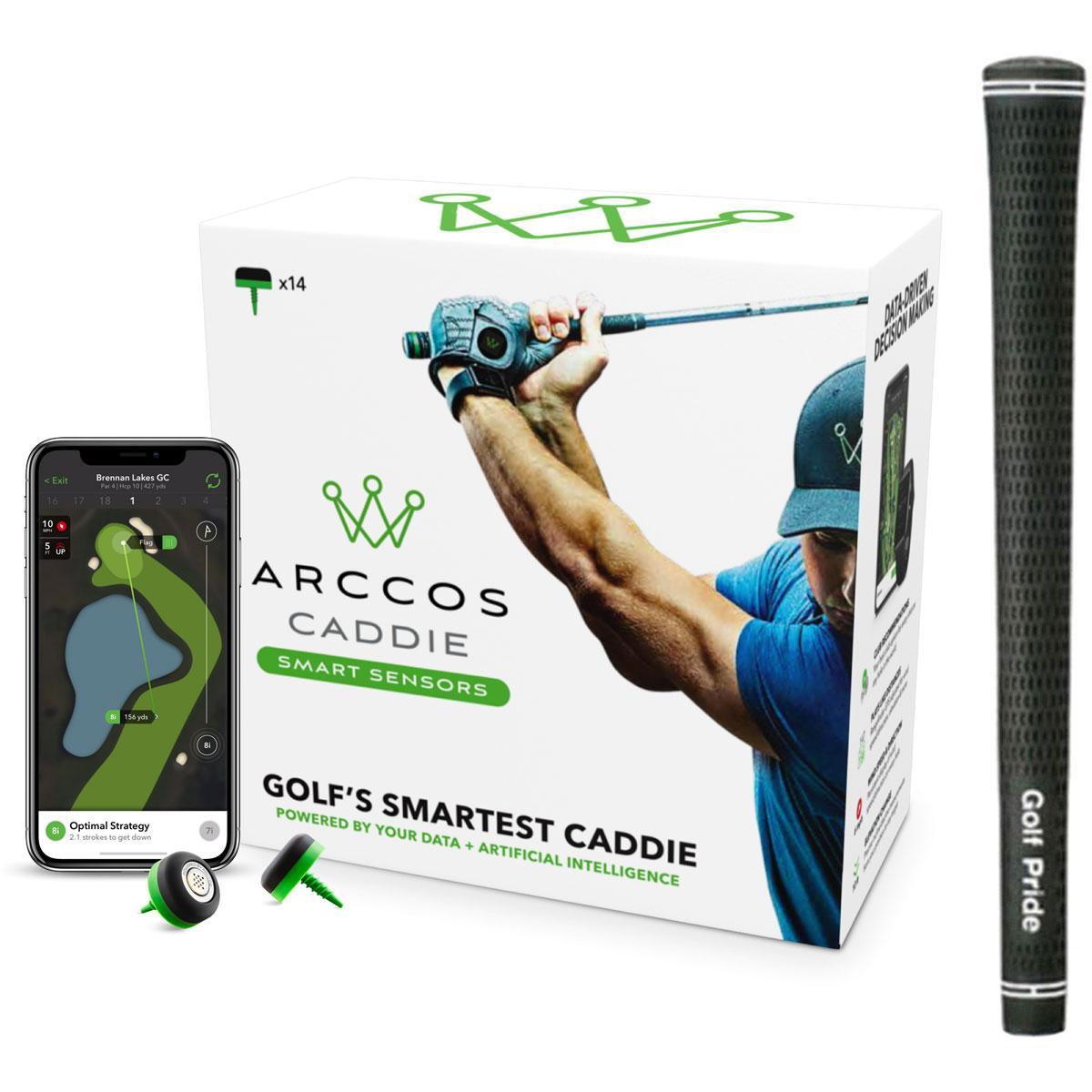 アーコスゴルフ Arccos Golf Arccos Caddie Smart Sensors &ツアーベルベット ラバー グリップ 10本セット