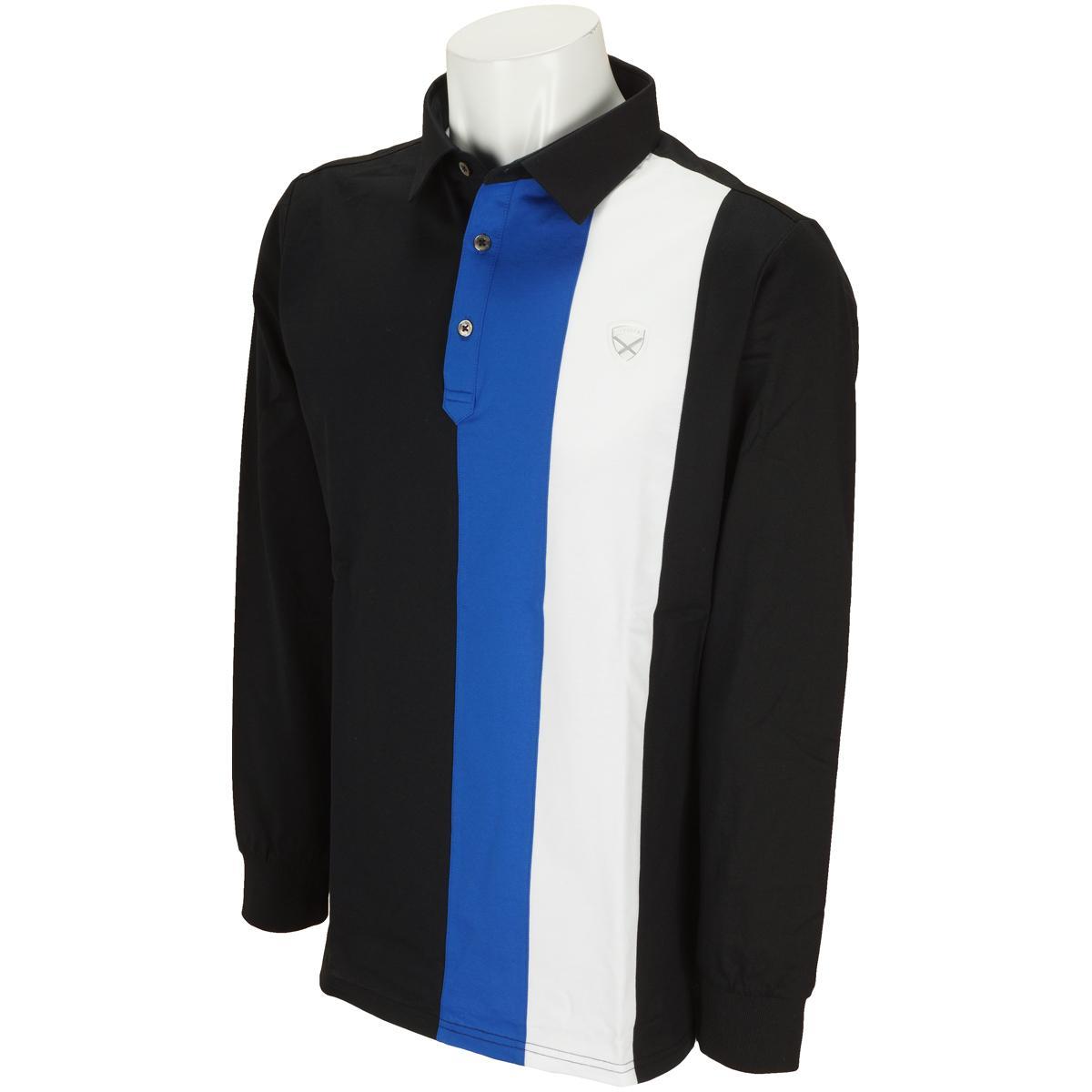 セント・アンドリュース St ANDREWS WhiteLabel COOLMAXハイゲージハニカム配色長袖ポロシャツ