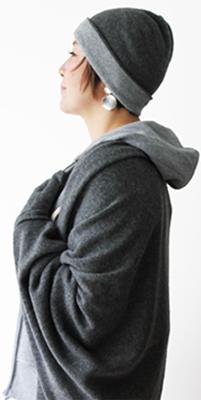 JOHNSTONS OF ELGIN(ジョンストンズ・オブ・エルギン)リバーシブル カシミヤニット帽