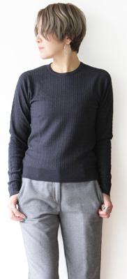 JOHN SMEDLEY(ジョン スメドレー)CABLE SWEATER(ケーブル編み セーター)