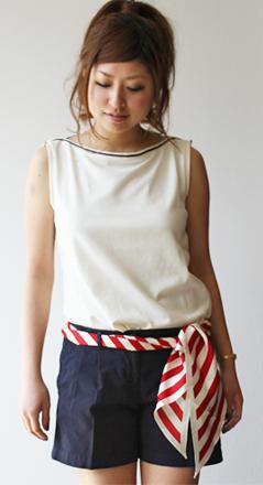 MARINA YACHTING(マリナヨッティング) スカーフ付ショートパンツ