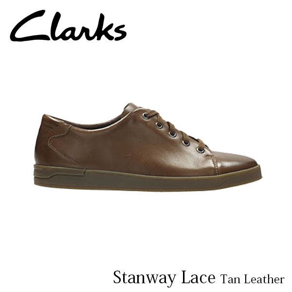 CLARKS クラークス シューズ メンズ Stanway Lace 26127242 Tan Leather CLA26127242 国内正規品