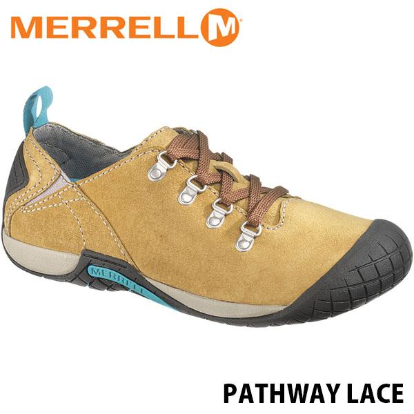 送料無料 メレル パスウェイレース レディース アンテローブ アウトドア ウォーキング 登山 スニーカー シューズ 靴 女性用 MERRELL PATHWAY LACE ANTELOPE 55976 MERW55976