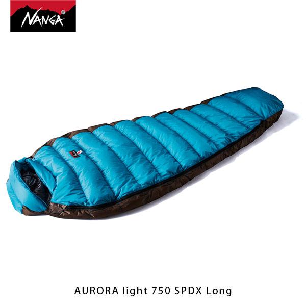 NANGA ナンガ 寝袋 オーロラライト750SPDX ロング AURORA light 750 SPDX Long ダウン シュラフ マミー型 アウトドア キャンプ 登山 NAN083