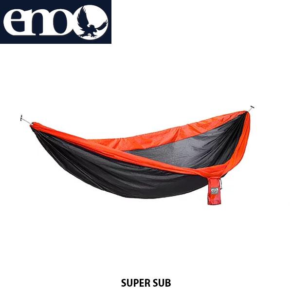 送料無料 eno イノー ハンモック スーパーサブ SUPER SUB ダブルネストサイズ アウトドア キャンプ キャンプ道具 アウトドア寝具 チャコール×オレンジ 811201017366 LS027 ENO013