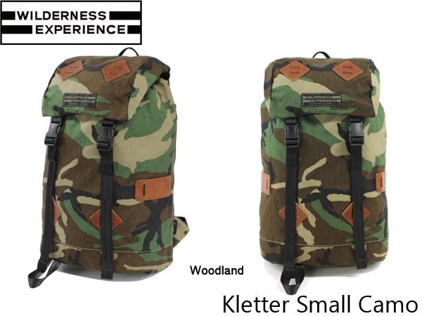 ウィルダネスエクスペリエンス バックパック クレッタースモール Kletter Small Camo 26L WILDERNESS EXPERIENCE WIL019