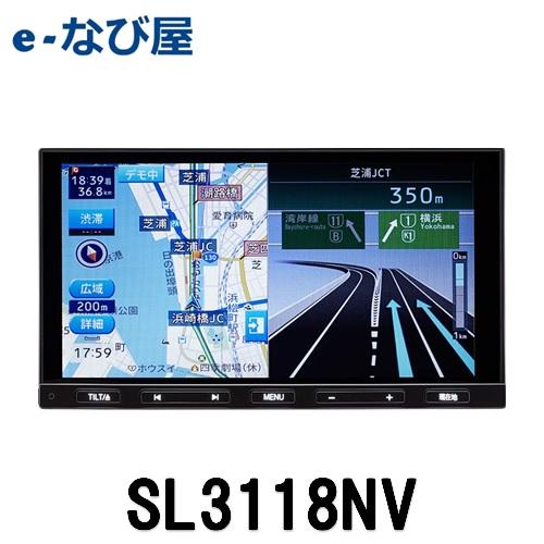 SOLINGソーリン カーナビ SL3118NV 7インチ180mm SDナビ CD/DVD フルセグ Bluetooth