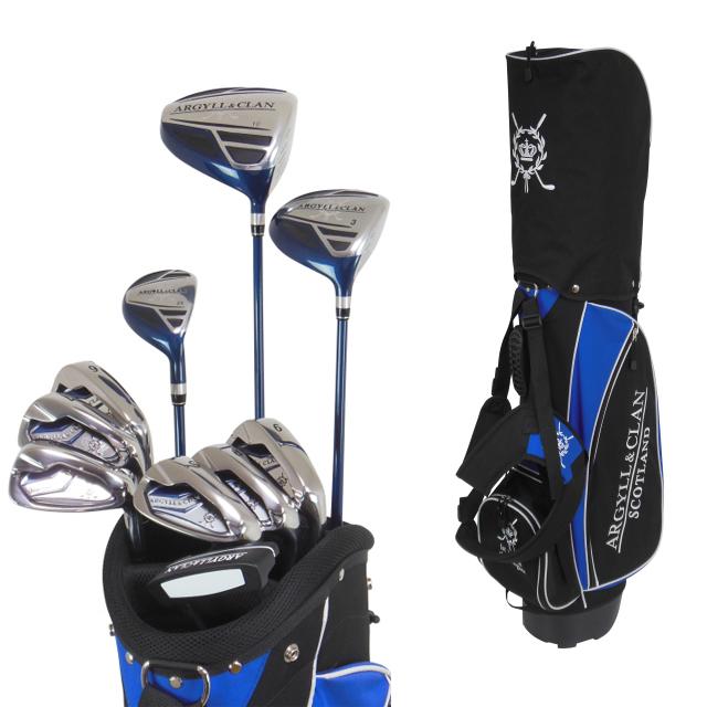 【送料無料】 アーガイル&クラン メンズ スタンドバッグ付 10本組 ゴルフ セット A&C-501
