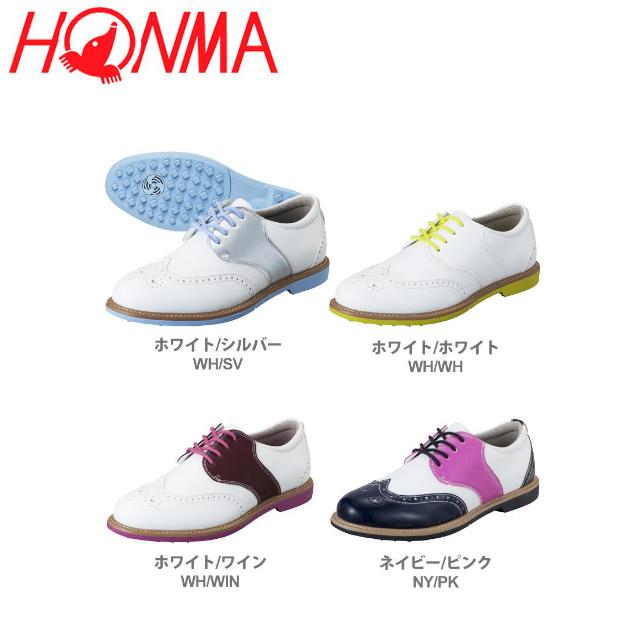 【送料無料】 ホンマ レディース クラシック ゴルフシューズ AIR COOLシステム搭載 SR-6602