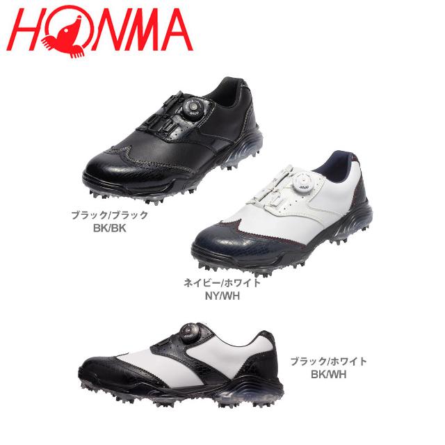 【送料無料】 ホンマ SS-1603 ウィングチップ ダイヤル式 ゴルフシューズ