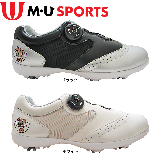 【送料無料】MU SPORTS レディース ダイヤル調整 ゴルフシューズ 703U1600