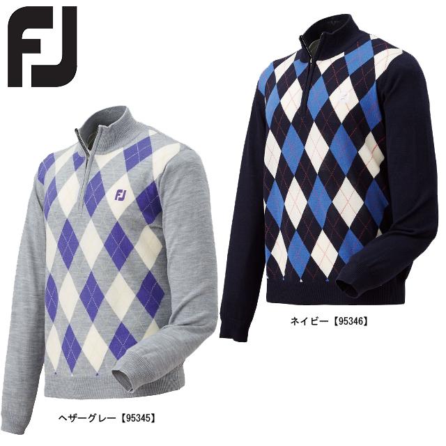 【送料無料】 FOOTJOY フットジョイ アーガイルハーフジップセーター FJ-F15-M55