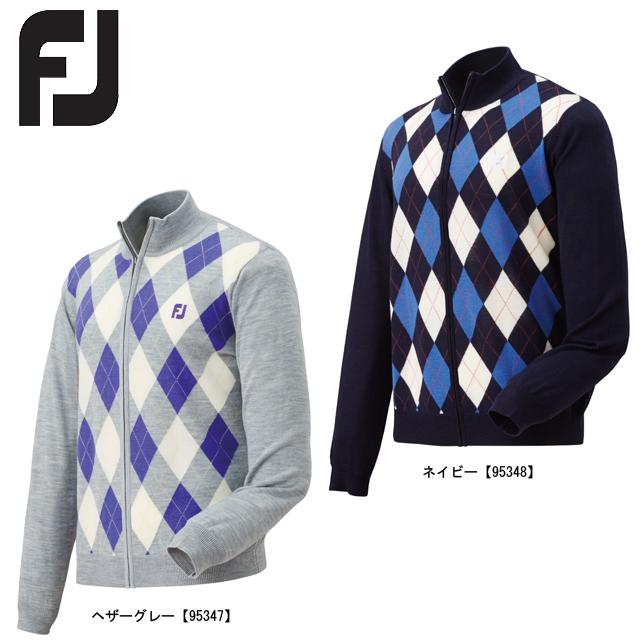 【送料無料】FOOTJOY フットジョイ アーガイル フルジップセーター FJ-F15-M59
