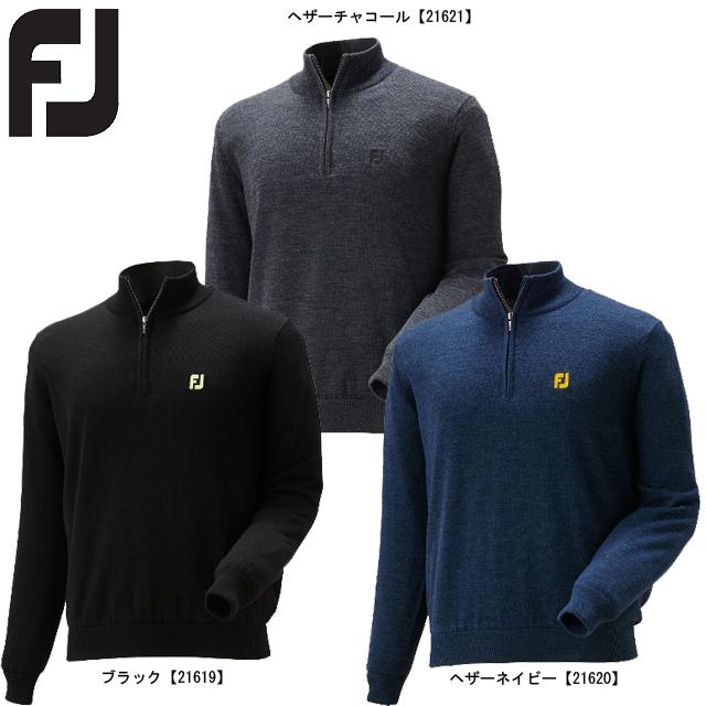【送料無料】 FOOTJOY フットジョイ ハーフジップラインセーター FJ-F16-M02