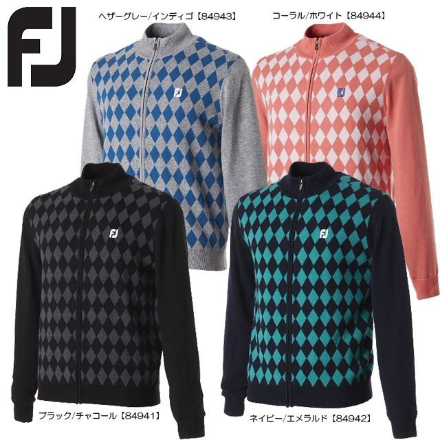 【送料無料】FOOTJOY フットジョイ フルジップラインセーター FJ-F17-M65