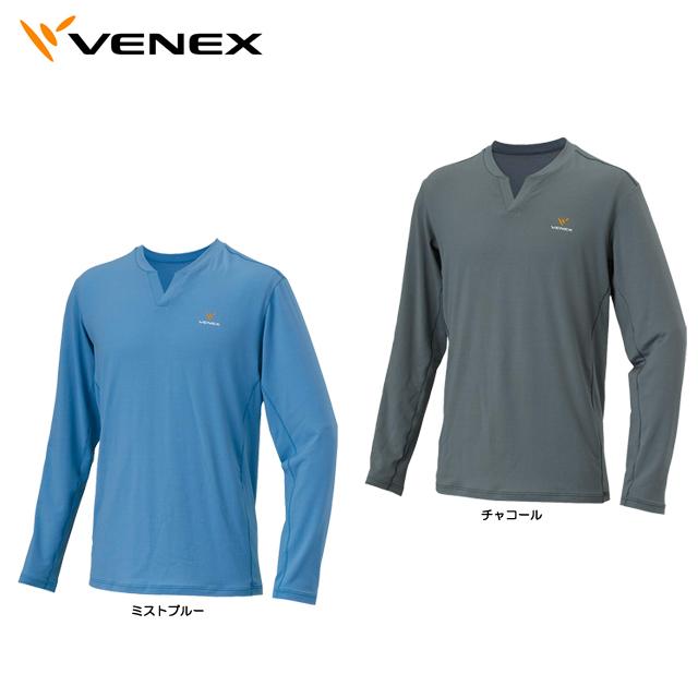 【送料無料】Venex ベネクス フリーフィール ウォーム ロングスリーブ スキッパーネック メンズ 6625