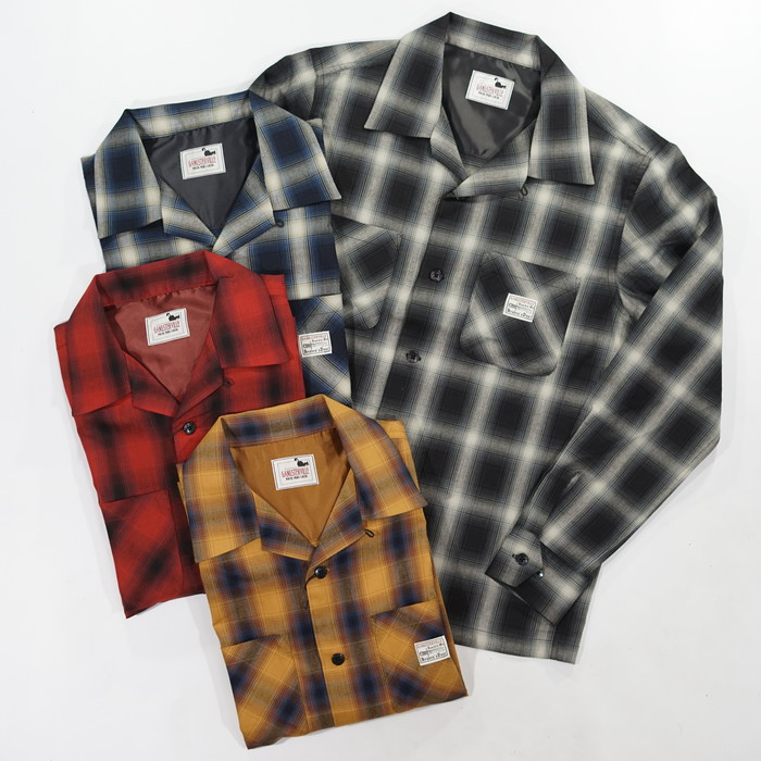 GANGSTERVILLE(ギャングスタービル)JACK - L/S CHECK SHIRTS全色 シャツ 長袖 チェック RUDO2020 SS 送料無料 代引き手数料無料GLAD HAND WEIRDO