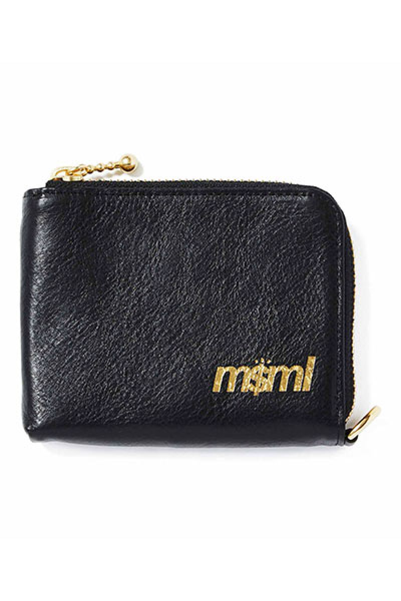 MUSIC SAVED MY LIFE (MSML) M1K1T-AC02 ZIP LEATHER WALLET BLACK