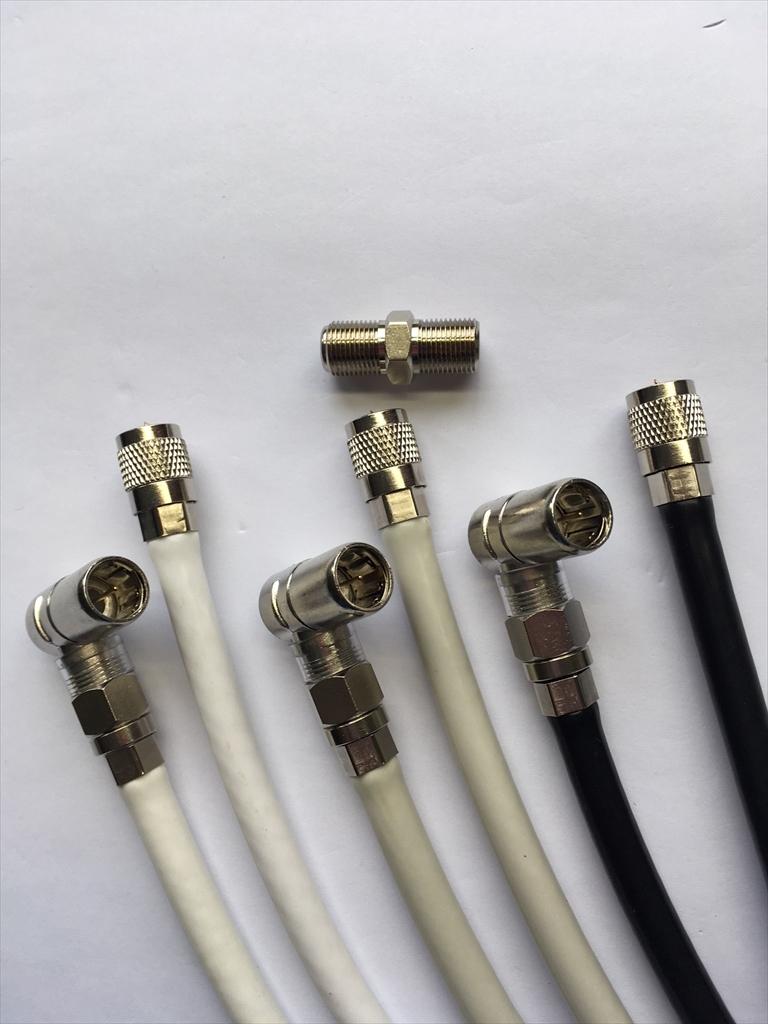 L型変換接栓 中継接栓付属 使い方によって様々に対応 3wayアンテナケーブル 15m 4K8K対応 ○色を選べる 延長もできる ネジ込丸型 蔵 日本全国どこでも プッシュL型 S5C-FB 1本 卸売り 中継接栓付 メール便ご利用で 5MFL-15○J +