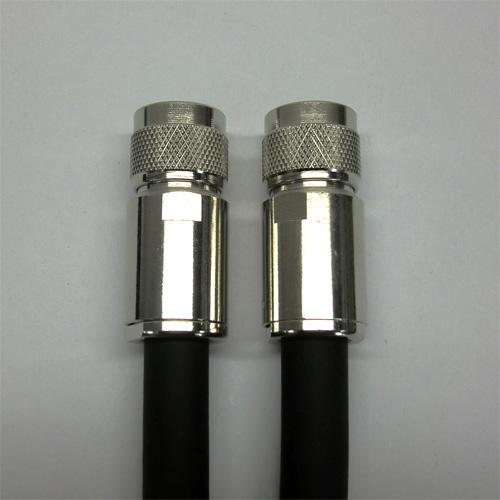 フジクラ製 10D-FB-LITE 黒 45m 両端NP付 1本 50無線ケーブル 730-10DFB-N-45M
