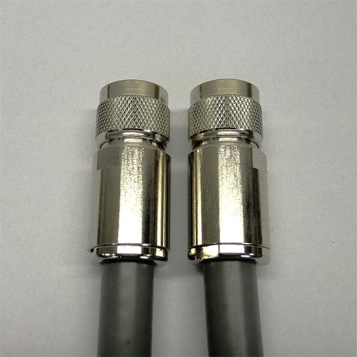関西通信製 10D-2V 灰 40m 両端NP付 1本 50Ω無線ケーブル 760-10D2V-N-40M