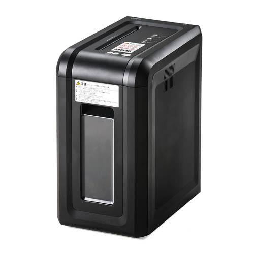 電動シュレッダー 家庭用 オフィス用 マイクロカット 8枚同時細断 連続15分使用 カード コンパクト 400-PSD035 サンワサプライ