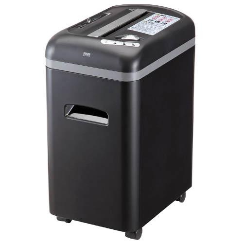 シュレッダー 業務用 電動 マイクロクロスカット A4 CD DVD カードキャスター付き セキュリティ 400-PSD008 サンワサプライ