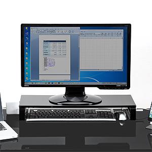 新品 モニター台 机上台 卓上 コンセント USBポート搭載 ブラック 幅60cm 特価キャンペーン スチール 100-MR039BK 充電 お値打ち価格で サンワサプライ 奥行20cm スマートフォン同期