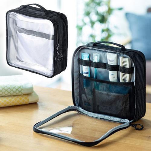 透明バッグ クリア スパ トラベル 化粧 薬 トイレタリー 収納  旅行 外湯めぐり おすすめ EEX-BGP02