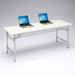 会議テーブル ミーティング 折りたたみ式 会議机 研修 塾 幅180cm 奥行60cm 白 ホワイト EED-FD007W